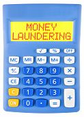 Calculator With Money Laundering