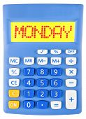 Calculator With Monday On Display
