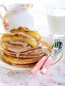 Caramelized Bananas Pancakes