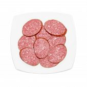 Sliced Sausage On The Plate