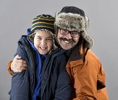 Father and Son Feel Cold