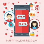 image of sms  - Smartphone with love sms and st - JPG