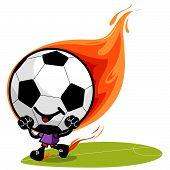 burning cartoon football