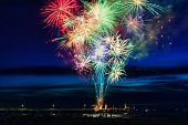 stock photo of firework display  - Firework Display during new year - JPG