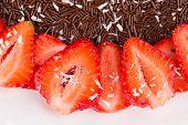 Strawberry cake with chocolate