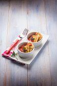 fried ravioli with tomatoes sauce