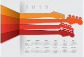 An abstract 2015 music calendar