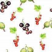 Seamless pattern with berries