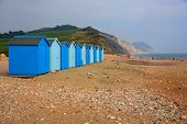 pic of shingles  - Charmouth beach Dorset England UK with pebbles and shingle and coas - JPG