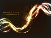EPS10 vector abstract explosion on dark background; composition has a lot of bright and blurry particles