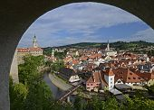 Cesky Krumlov. View from the Castle
