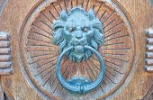 Lion Head Doorknocker.