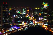 Abstract Bokeh Of Defocused Cityscape Lights