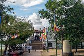 Anuradhapura - circa December 2014: The way to Ruwanvali seya Dagoba, Sri Lanka circa December 2014