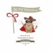 Funny cat macho Valentine