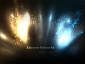 EPS10 vector extreme fireworks