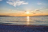 Supetar beach sunset