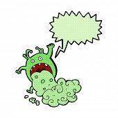 image of grossed out  - cartoon gross monster - JPG