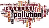 image of noise pollution  - Pollution word cloud concept - JPG