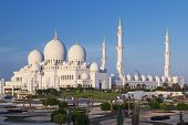 Famous Sheikh Zayed Grand Mosque, Abu Dhabi