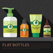 Vector Flat Bottle