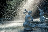 picture of fountains  - Detail of Forsyth fountain in Savannah - JPG
