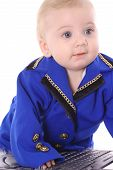 adorable baby in business suit