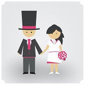 Groom And Bride In Pink