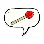 cartoon lollipop with speech bubble