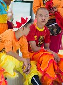 Children Dressed In Colorful Costumes