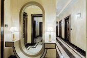 Spacious Hall Inside Baroque Interior