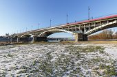 Bridge Over Vistula River In Warsaw