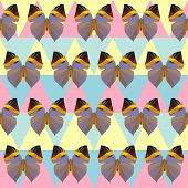 Polygonal Butterfly Pattern Background