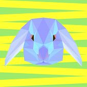 Abstract Geometric Polygonal Rabbit Background