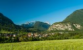 picture of west village  - Vrata valley with Mojstrana village - JPG