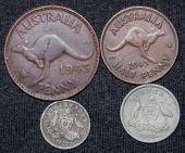 Australian sterling coins.