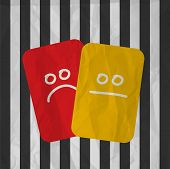 football soccer red yellow cards