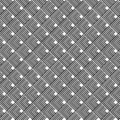 stock photo of trapezoid  - Black and white geometric seamless pattern with line abstract background vector EPS10 - JPG