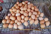 Grill Eggs At Market,thailand