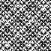 picture of trapezoid  - Black and white geometric seamless pattern with line abstract background vector EPS10 - JPG