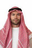 Man in Arabic headdress.