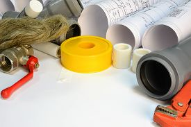stock photo of gas-pipes  - Drawing rolls - JPG