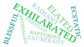 foto of rapture  - Exhilarated word cloud on a white background - JPG