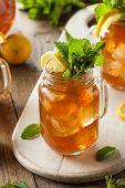 pic of iced-tea  - Homemade Iced Tea and Lemonade with Mint - JPG