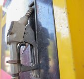 picture of gasoline station  - oil gasoline dispenser at petrol filling station - JPG