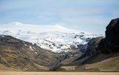 picture of iceland farm  - View of snow covered mountains - JPG