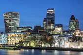 pic of london night  - Cityscape of London at night UK - JPG