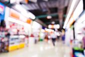foto of department store  - Abstract blurred people shopping in department store - JPG