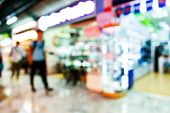 picture of department store  - Abstract blurred people shopping in department store - JPG