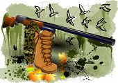 picture of shotgun  - abstract hunting - JPG